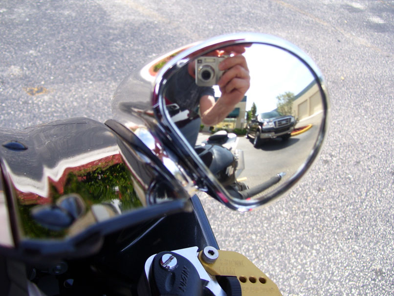MOTORCYCLE MIRRORS BLIND SPOT Chrome Fairing fitting pig Left right spotters new